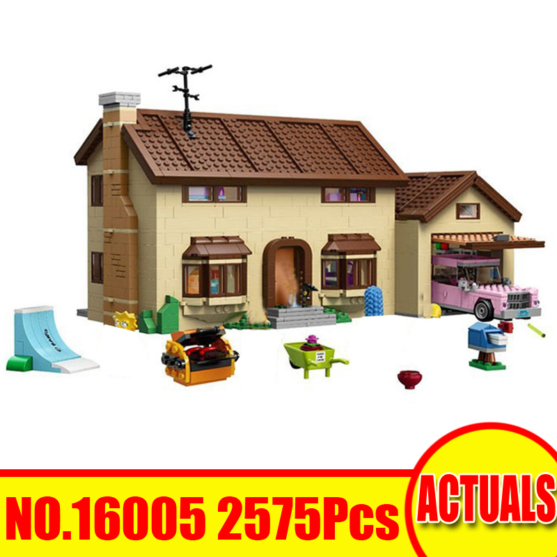 Lepin 16005 2575Pcs Movie Figures The Simpsons House Building Kit Blocks Bricks Toy For Children Gift Set Model Compatible 71006 lepin movie figures 16005 2575pcs the simpsons house model building kits blocks bricks educational kid toy compatible with 71006