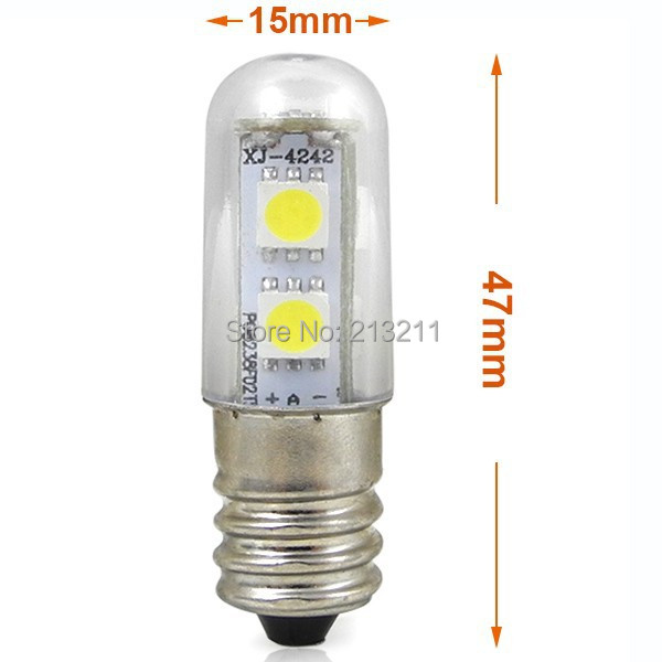 Refrigerator Light Bulbs 1PC LED light chandelier 220v 110v E14 1W LED Small Mini ...