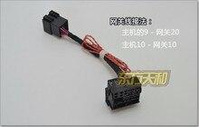 Polo Golf Jetta Tiguan Actualiza RCD510 RCD310 RNS510 Adaptador Canbus CABLE ISO Para Quadlock Cable de Conversión