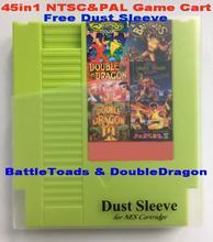 Battletoads и doubledragon 45in1 NTSC и PAL игры, 72 контакты NES игры корзину замена корпуса, Бесплатная пыли рукав