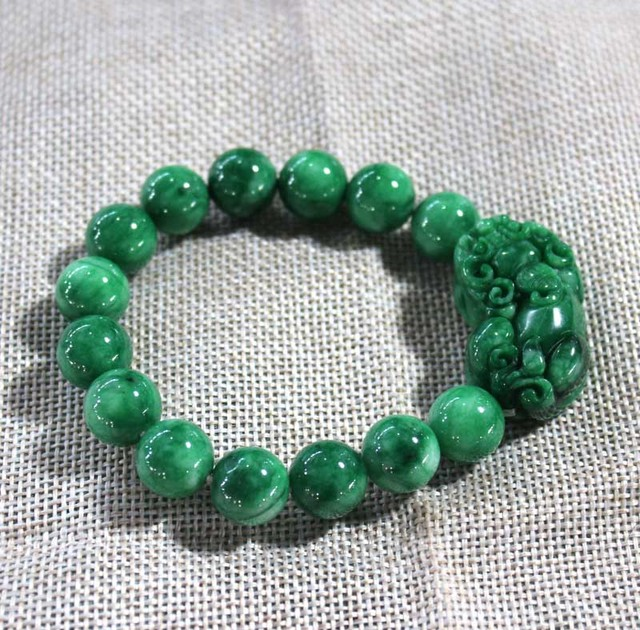 Burma Jade Bracelet Green Pixiu Bracelets Men And Women Drop Shipping