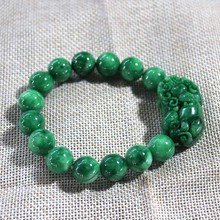 Burma jade bracelet green jade pixiu bracelets men and