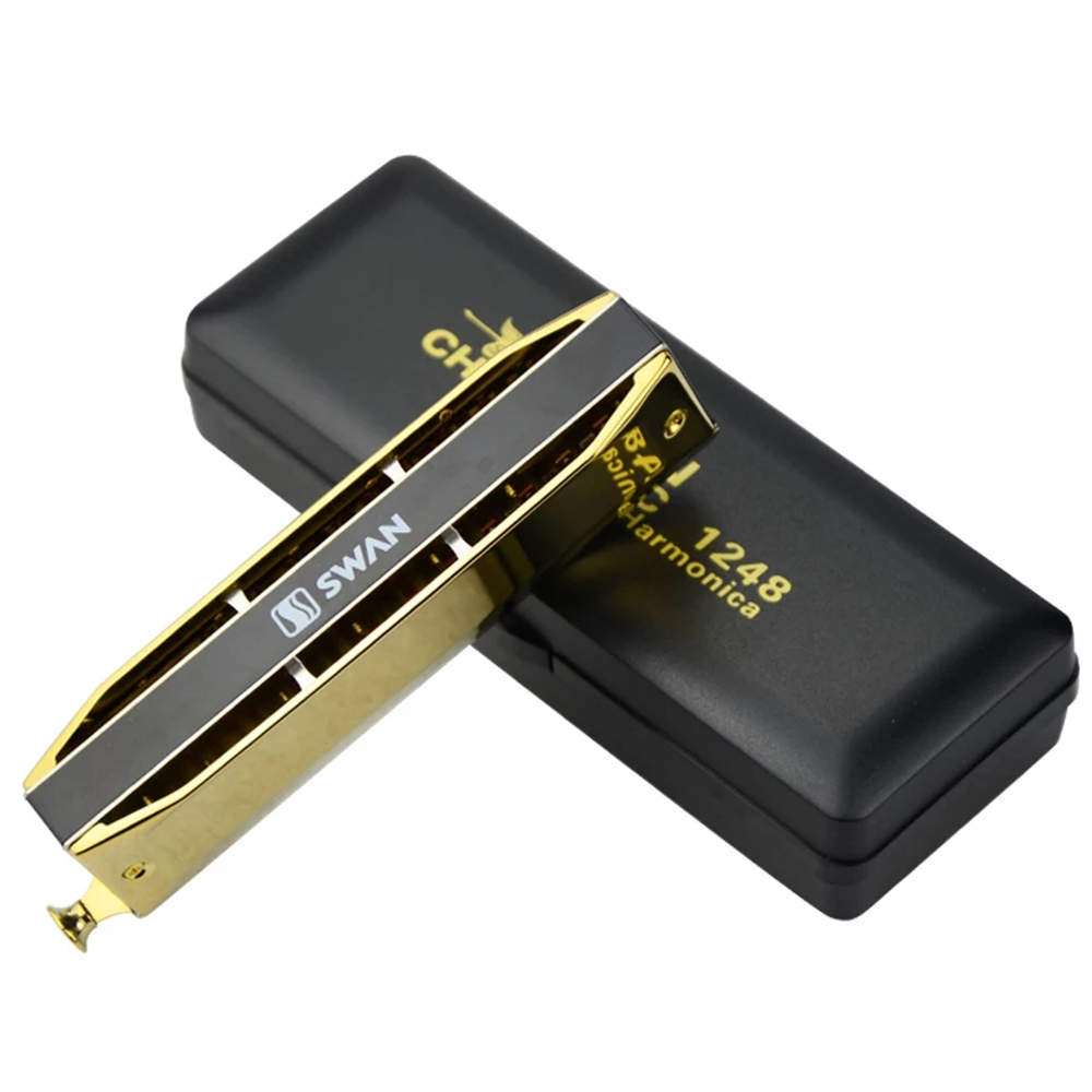 Swan Chromatic Professional 1248 Harmonica 12 Hole 48 Tone Mouth Organ Key  of C Harp ABS Comb Brass Reeds Musical Instruments -in Harmonica from  Sports ...
