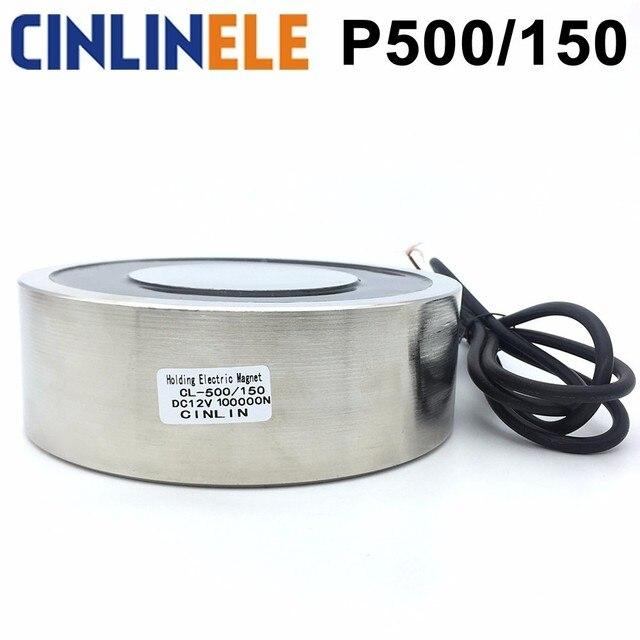 CL-P 500/150 10000KG/100000N Holding Electric Magnet Lifting  Solenoid Sucker Electromagnet DC 6V 12V 24V Non-standard custom