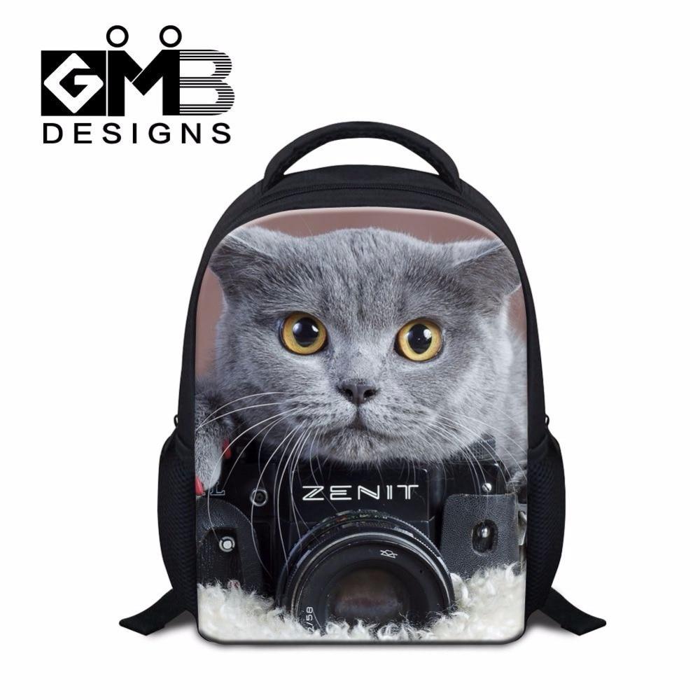 Dispalang 3D pet cat Печать ультра легкие школьные сумки Забавный животный узор рюкзак сумка мини школьная сумка, для детей младшего возраста рюкзак