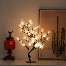 Новый светодиодный светильник вишни настольная лампа фея дерево