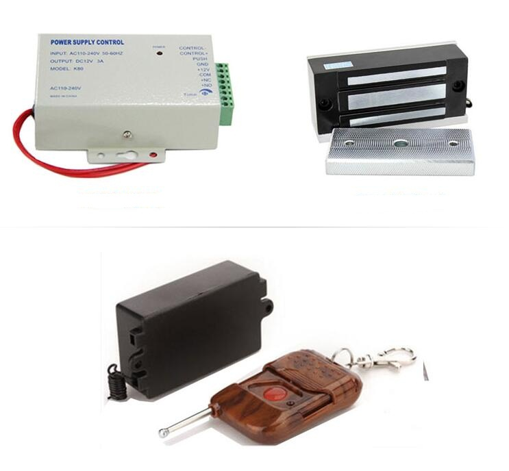 60kg 1 to 4 Remote control power supply 12V 3A Door Cabinet case box  Electric Magnetic Lock for RFID door access control system - Magnetic Lock For Cabinet Promotion-Shop For Promotional Magnetic