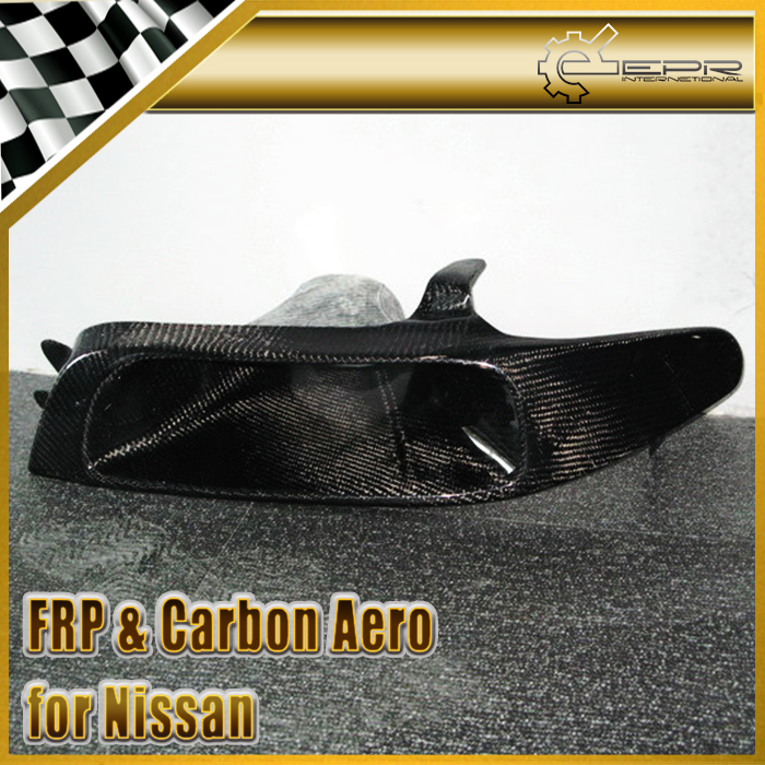 Car styling For Nissan Skyline R33 GTR GTS Carbon Fiber Vented Headlight Replacement (Left)