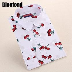 Dioufond new floral long sleeve vintage blouse cherry turn down collar shirt blusas feminino ladies blouses.jpg 250x250