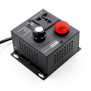 Image 3 - EU Plug AC 220V 4000W SCR Electronic Voltage Regulator Temperature Motor FAN Speed Controller Dimmer Electric tool Adjustable