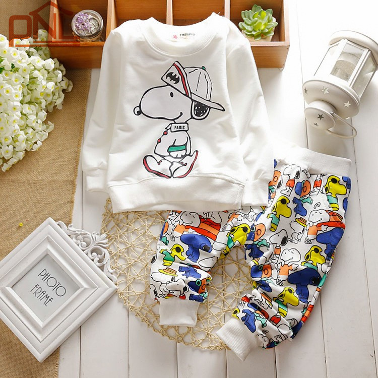 New 2017 Spring  Baby Clothing Sets Children Boys Girls Kids  Suits Tracksuits Cotton Long Sleeve Shirt + Pants 2pcs lovely spring new year cotton long sleeves baby kids children suits boys pajamas christmas girls clothing sets clothes