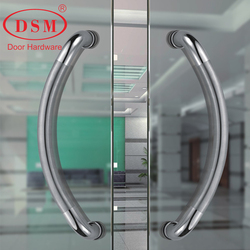 Entrance Door Handle 304 Stainless Steel Pull Handles For Commercial Office Store Entry Front Doors PA-160-32*432mm