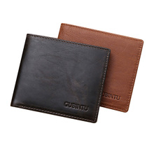 RFID Wallet Genuine Leather Men Slim Purse Credit Card Holder Protector Slim Minimalist Male Business Mini Wallets Purse Short