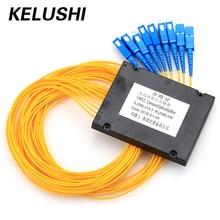 KELUSHI FTTH 1*8 PLC Box Splitter Telekommunikation Faser Splitter 1 Punkte 8 Kassette Optische Splitter Fiber Kostenloser Versand