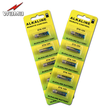 10pcs/2card Wama 27A 12V Alkaline Battery Cells 27AE 27MN Primary Dry Batteries For Car Remote Watch Toys