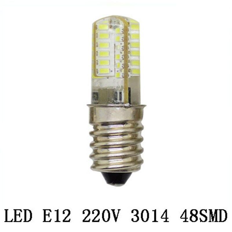 5X Led Lamp E12 NO-Dimming AC 220V 7W lampada led lighting 3014 SMD Christmas Chandelier Light LED bulb