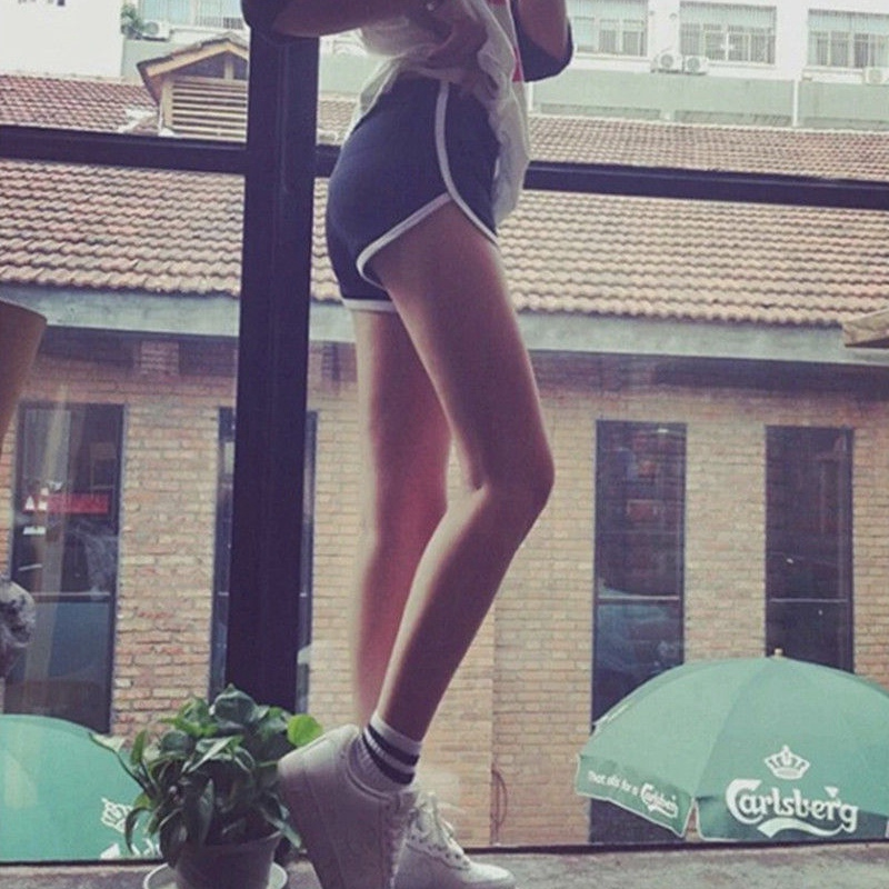 2018 Frauen Baumwolle Casual Shorts Strand Schlanke Yo-ga Damen Weiße Seite Shorts Hot