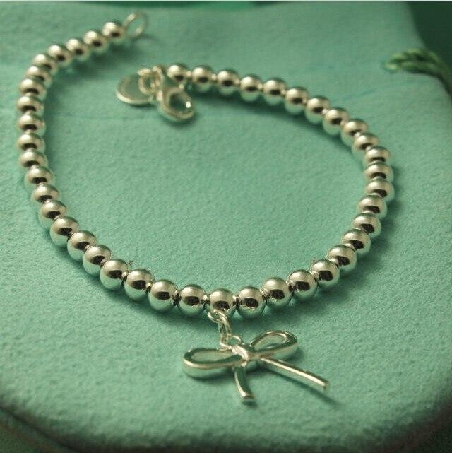 Arc Charmes Pendentif Perle Bracelet Femmes Design de la Marque D'origine 100% Pur Réel En Argent 925 Top Qualité Bijoux Cadeaux