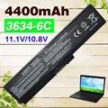 4400 mah 6 celdas de batería portátil pa3634 para toshiba satellite a665d c640 c640d c645d c650 c655 c660 c655d c660d