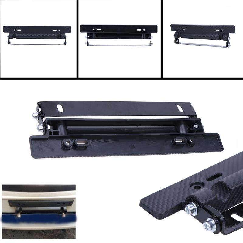 Universal Bumper Mount Bracket Holder License Plate Frame Bar Carbon Fiber Style