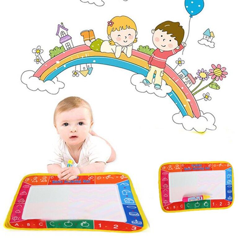 Записи ничья Краски воды холст магия каракули коврик ручка щетки 29x19 см детские игрушки