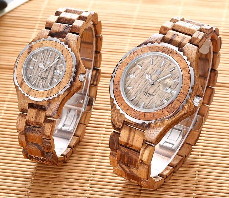 quartzo relógios de alta qualidade natural sândalo