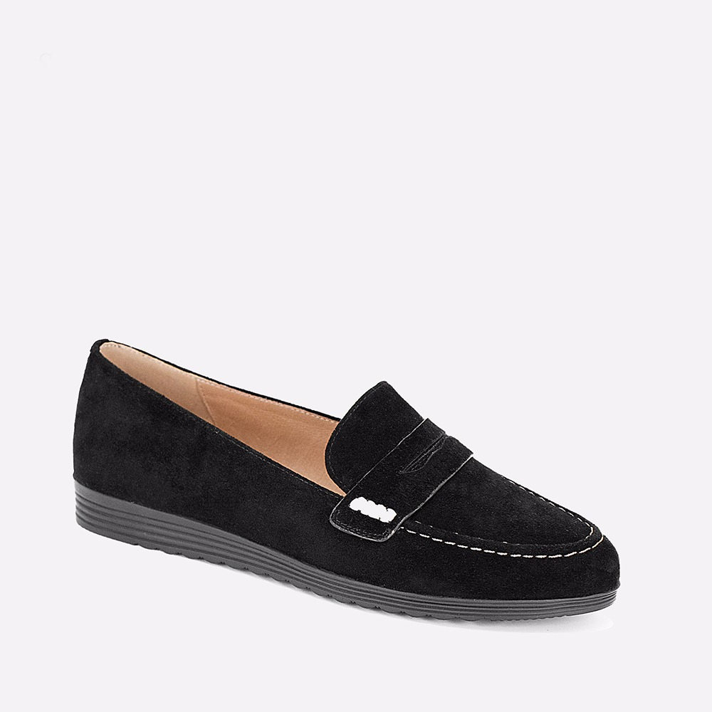 SOPHITINA Black Kid Suede Flats High Quality Handmade Round Toe Casual Loafers 2018 New Fashion Autumn Slip-on Woman Shoes P42 fashion crystal embellished woman shoes gold metallic round toe slip on casual shoes 2017 high quality suede loafers