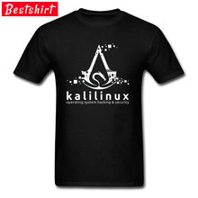 Besturingssysteem Hacking en Security Logo Deisgn T Shirt Design Fashion Print Casual Tops Tees Zomer Tee Shirt Katoen Mannen(China)