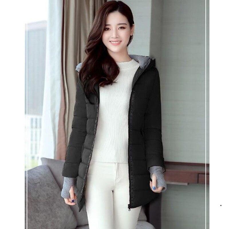 Black Slim Élégante Version Dames Veste Graisse Femmes Mode Long Coréenne pink F62 Sœur Blue Hiver Mince Paragraphe sky Vêtements Coton De New ZBq8nwxXqU