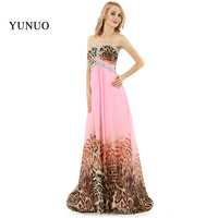 Custom Made Evening Gown Pink Print Leopard Evening Dresses Long Gown Sweetheart Beading X08118