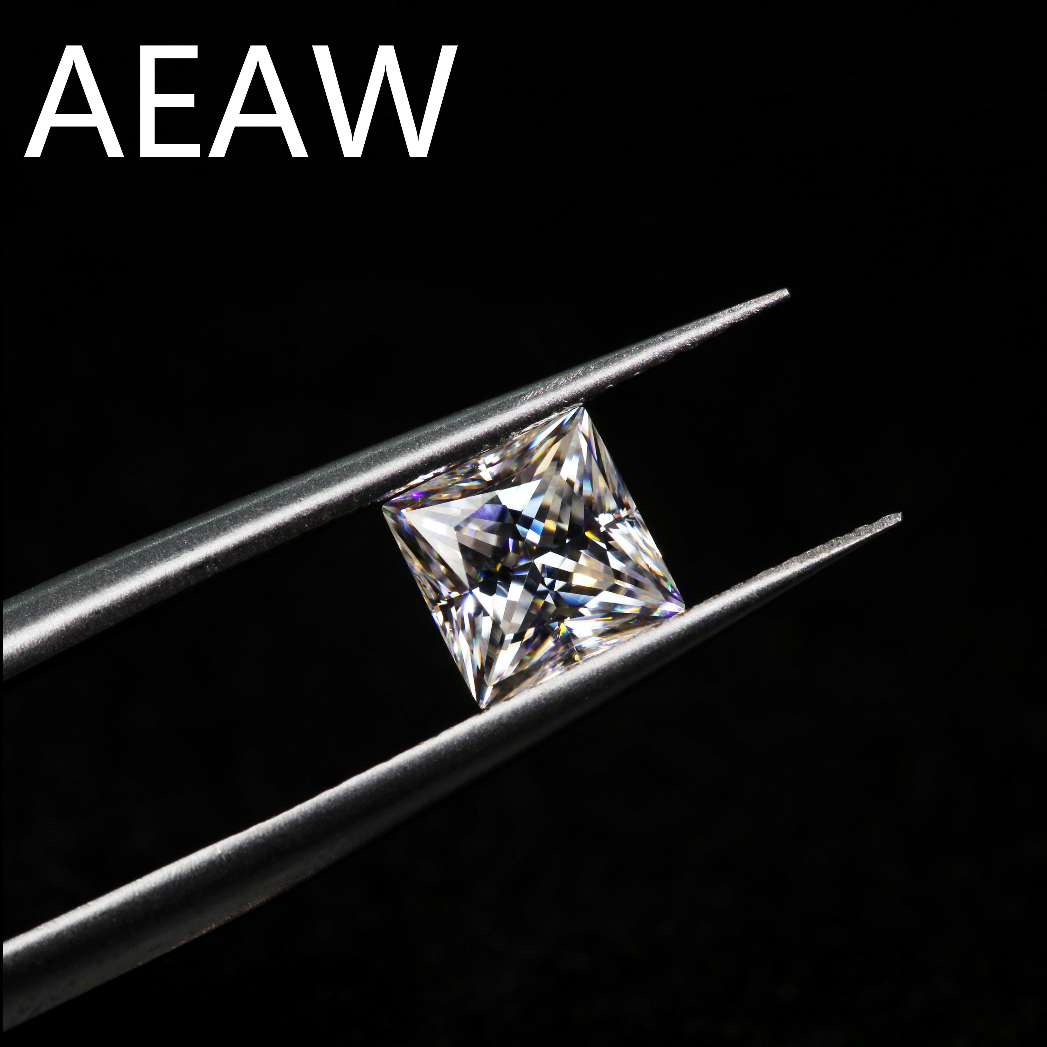 Loose-Stone Positive Moissanite Excellent-Cut Carat Grade-Test Princess-Cut 6mm 1ct Colvard
