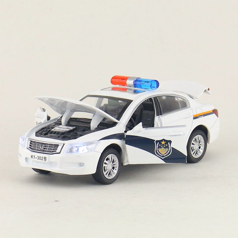 Diecasts & Toy Vehicles Well-Educated Free Shipping/diecast Toy Model/1:32 Scale/honda Accord Police/pull Back Car/sound & Light/educational Collection/gift Rapid Heat Dissipation