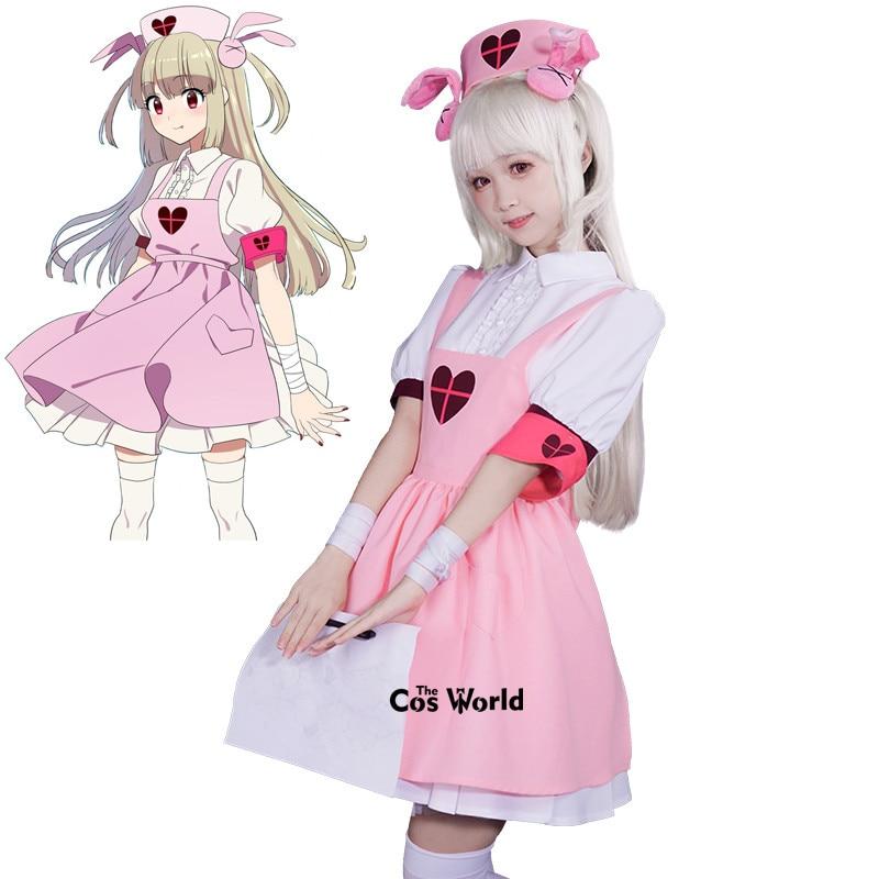 Youtuber Natori Sana femme de ménage tablier robe infirmière uniforme tenue Cosplay Costumes
