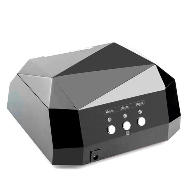 36 w LED מנורת UV נייל מייבש מנורת עבור נייל UV ג 'ל פולני יהלומי צורת נייל CCFL UV מנורת 10 /30/60 s טיימר מניקור מכונת כלים