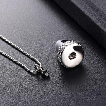 KLH9933-1 серебро, золото из нержавеющей стали желудь Keepsake ожерелье для кремации, оптовая продажа похорон ювелирные изделия для человеческого п...