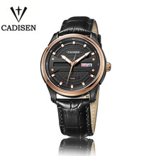 Cadisen Calendario Completo Sevgilisi Saatler Splendid Moda Casual Hombre Cocodrilo Correa De Cuero Genuino relojes de Pulsera Mecánicos