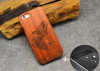 Hot Outdoor Sports Natural Wood Case Coque Rosewooden Half Flower Phone Cover Cases For Apple Iphone X 5 5S SE 6 6S 7 PLUS
