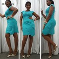 Black Girl Cocktail Party Dress Turquoise Short Dress Sheath Cap Sleeve vestido de festa curto SAU497