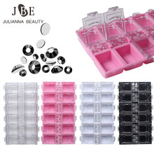 12 Grids Empty Rhinestone Storage Case Crystal Beads Jewelry Box For Decoration Container Nail Art Accessory Case Wholesale