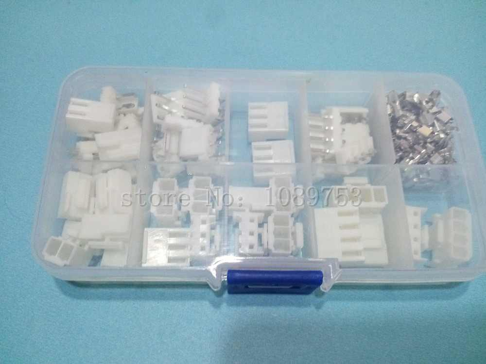25 sets 2p 3p 4 pin VH 3.96mm Pitch Terminal Housing Pin Header terminal Connector with box connector