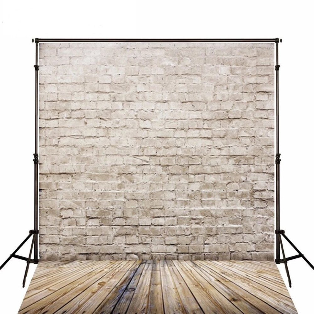 Retro Vintage Brick Wall Photography Backdrop Wood Floor Baby New Born Photoshoot Props Children Photo Background for Studio huayi 4pc 2x2ft wood floor brick wall backdrop vinyl photography backdrops photo props background small object shooting gy 019