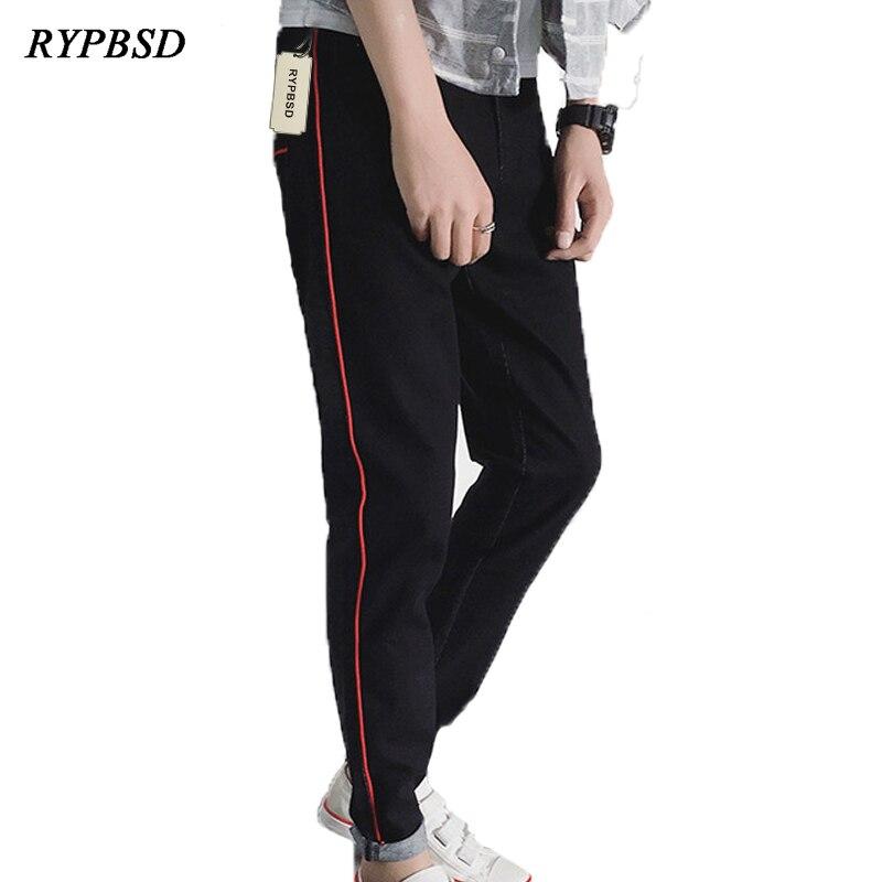 Autumn Winter Washed Men Jeans Pants 2017 Korean Stretch Casual Streetwear Hip hop Mens Jeans Harem Pants Male Stripe Trousers