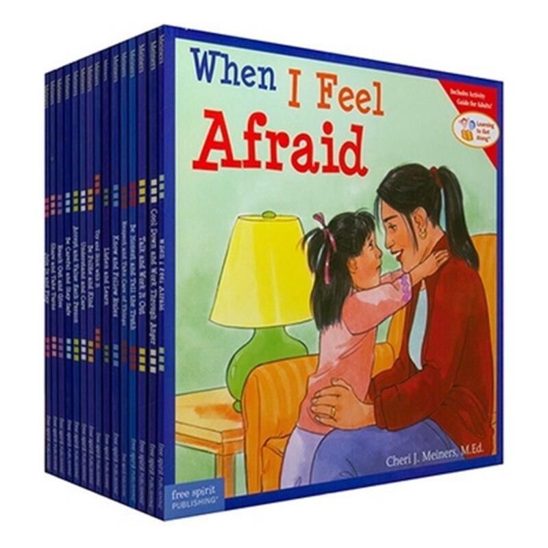 Не ткань книги оригинальный английский книги детская Эмоциональный интеллект обучения 15 шт./компл.
