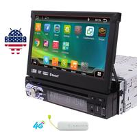 7'' Car DVD Player in Dash GPS Stereo Single 1 Din Vehicle AM/FM Radio Receiver/SWC/Bluetooth/1080P Video/Dual/Wifi + 4G Dongle