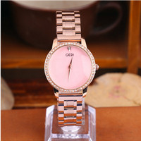 Hot 2019 Ladies Watch Women Diamond studded Steel Butterfly Buckle Fashion Casual Wild Simple Quartz Gold Watches Chronograph