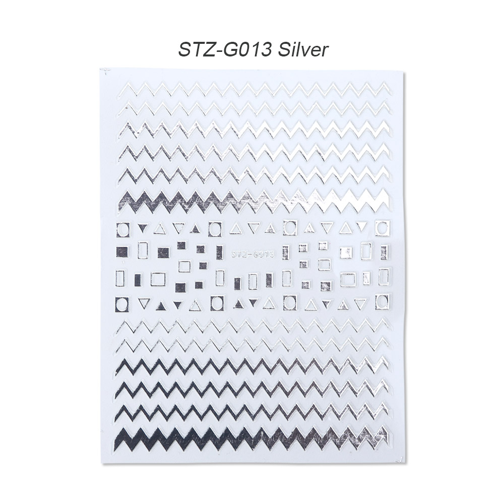 gold silver 3D stickers STZ-G013 Silver
