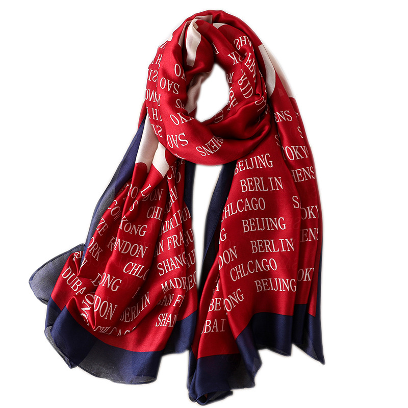 Fashion Brand print silk   Scarf   women Spring Summer Plus Size Female shawl women long head   Scarves     Wraps   High quality pashmina