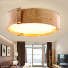 Dia 46cm Nordic Solid Wood LED Ceiling Lights Japanese Style Living Room Dining Bedroom Modern Lamp Fixture