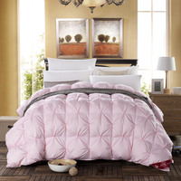Pure Color Pink Twist Bread Feather Duvets Silk Quilt Duvet For White Cover Comforter Winter Was