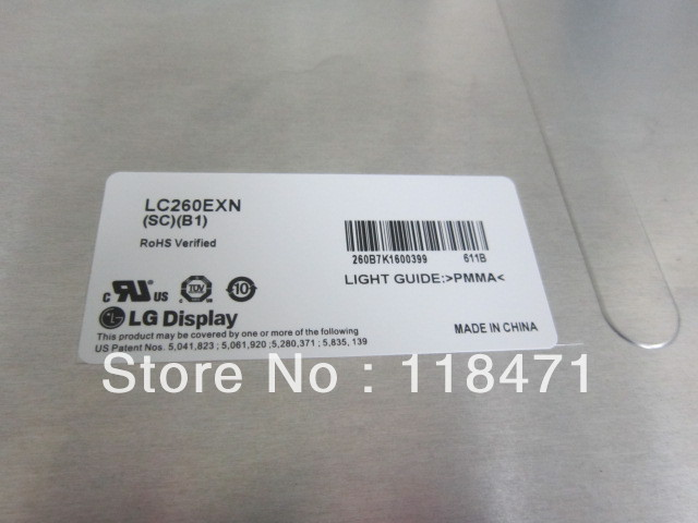 26 inch LCD Panel LC260EXN-SCB1 1366 RGB*768 WXGA original grade A one year warranty26 inch LCD Panel LC260EXN-SCB1 1366 RGB*768 WXGA original grade A one year warranty
